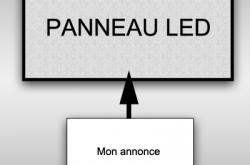 Publicité sur Panneau LED
